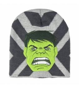 Gorro con aplicaciones Avengers Hulk gris
