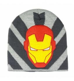 Gorro con aplicaciones Avengers Iron Man gris