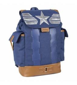 Mochila Casual Viaje Avengers Capitan America azul -27.0x42.0x14.0cm-