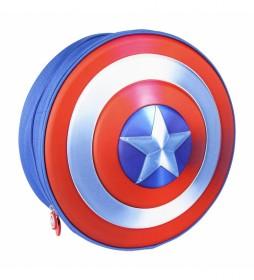 Mochila Infantil 3d Premium Avengers Capitán América azul -31x31x10cm-
