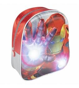 Mochila Luces 3d Avengers rojo -25x31x10cm-