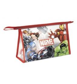 Neceser con set de aseo Avengers rojo -23x15x8cm-