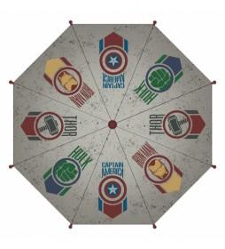 Paraguas Avengers gris  -48 cm-