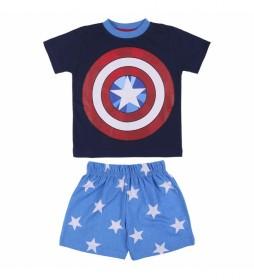 Pijama Jersey Avengers azul