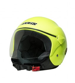 Axxis Sport City jet helmet yellow fluor