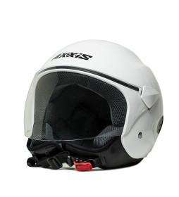 Axxis Casco jet Sport City blanco perla