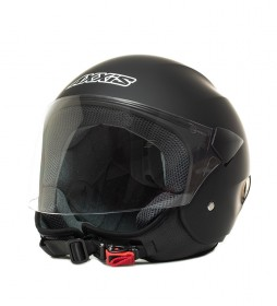 Axxis Casco jet Sport City negro mate