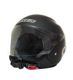 Axxis Casque jet Sport City noir mat