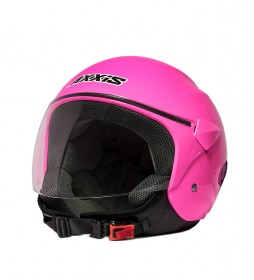 Axxis Casque Jet Sport City rose fluo