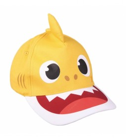 Gorra Premium 3d Baby Shark amarillo