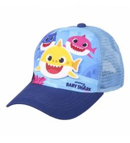 Gorra Premium Baby Shark azul