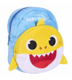 Mochila Guarderia Personaje Baby Shark azul, amarillo -26x31x10cm-
