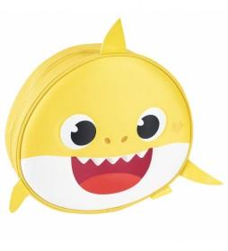 Mochila 3D Premium Baby Shark amarillo  -30x28x9cm-