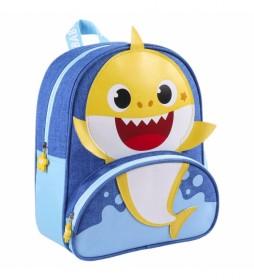 Mochila Baby Shark azul -25.5x30x10cm-