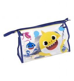 Neceser con set de aseo Baby Shark azul -23x15x8cm-