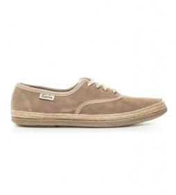 Zapatillas de piel taupe
