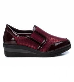 Zapatos 044937 burdeos -Altura cuña: 4 cm-