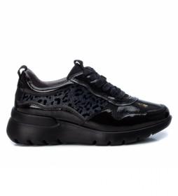 Zapatillas 044967 negro -Altura cuña: 5 cm-
