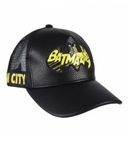 Gorra Premium Piel Sintética Batman negro
