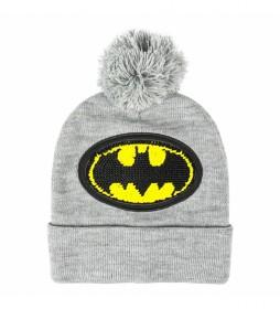 Gorro con aplicaciones Batman gris