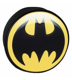 Mochila 3d Premium Batman amarillo -9x30x30cm-
