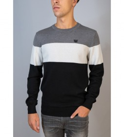 Jersey Tricolor gris, blanco, negro