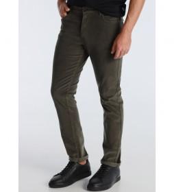 Pantalon 5 Bolsillos Corduroy verde kaki