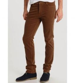 Pantalon 5 Bolsillos Corduroy marrón