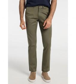 Pantalón Chino Confort Fit verde kaki
