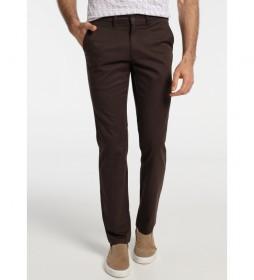 Pantalón Chino Confort Fit marrón
