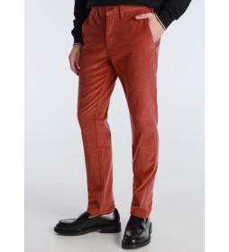 Pantalón Chino Corduroy marrón teja
