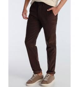 Pantalón Chino Corduroy marrón oscuro