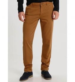 Pantalón Chino Mini Print marrón