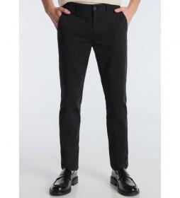Pantalon Chino Skinny Tobillero negro