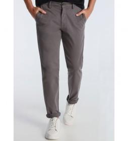 Pantalón Chino Slim Saten gris