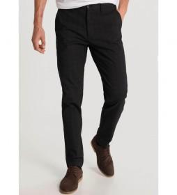 Pantalón Estampado Cuadros negro