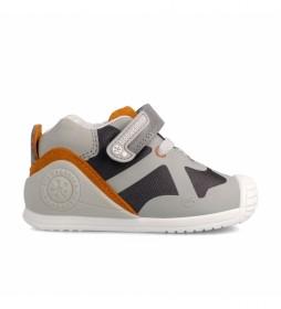 Zapatillas 211131 beige, gris