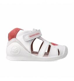 Sandalias de piel Grace blanco