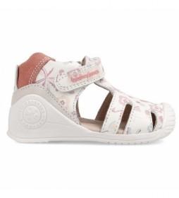 Sandalias de piel Flamencos blanco