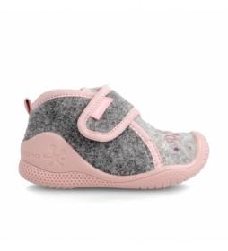 Zapatillas de casa 211162 gris, rosa