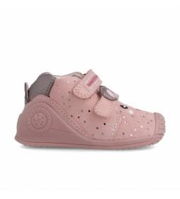 Botas de piel 211115 rosa