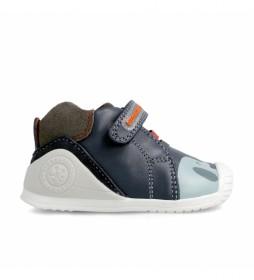 Zapatillas de piel 211147 marino