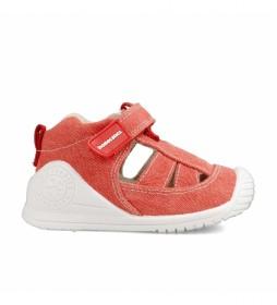 Sandalias Azai rojo