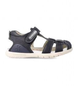 Sandalias de piel 182172 marino