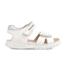 Sandalias de piel 202166 blanco