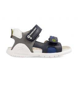 Sandalias de piel 202193 marino