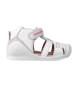 Sandalias de piel 212104 blanco