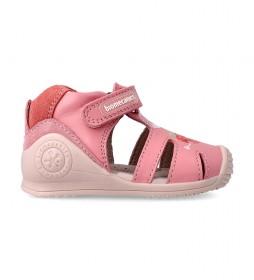 Sandalias de piel 212108 rosa