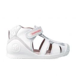 Sandalias de piel 212109 blanco