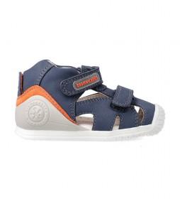 Sandalias de piel 212137 marino